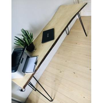 Konsola loft, biurko loft, konsola drewno i metal