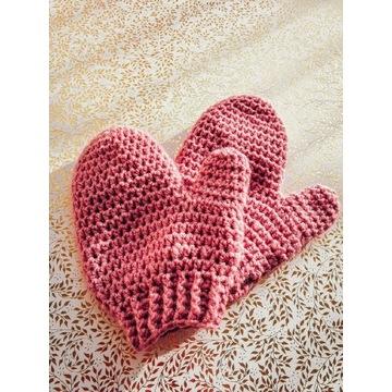 Dziecięce rękawiczki 100% wełna merynos handmade