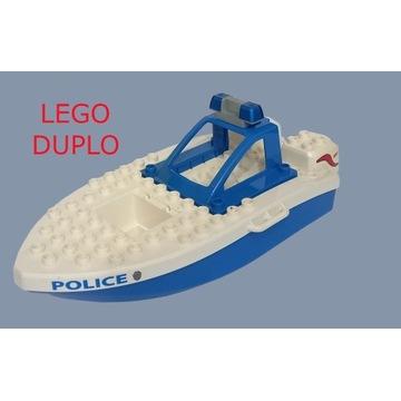 ŁÓDŹ POLICYJNA LEGO DUPLO ZABAWKA MOTORÓWKA