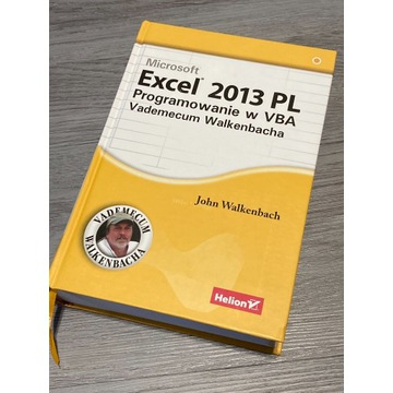 Excel 2013 Programowanie VBA Vademecum Walkenbacha
