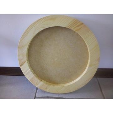 Drewniana okrągła ramka kreatywna komplet TRIO