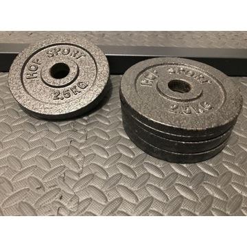 Obciążenia żeliwne 4 sztuki po 2,5 kg