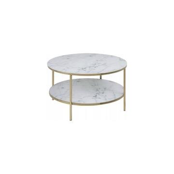 Movian selsey szklany stolik marmur złoty okrągły