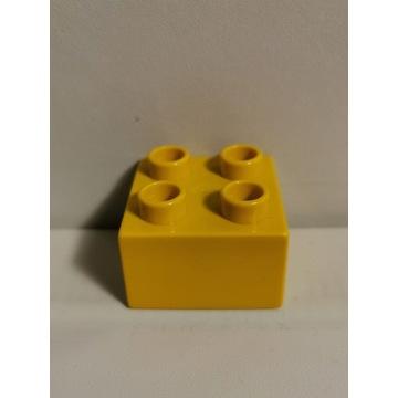 LEGO DUPLO oryginalny klocek musztardowy żółty 2x2