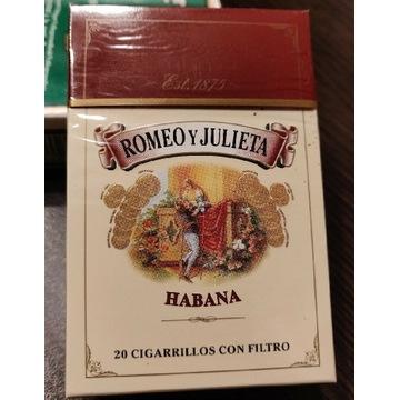 Kolekcjonerska paczka papierosów ROMEO Y JULIETA