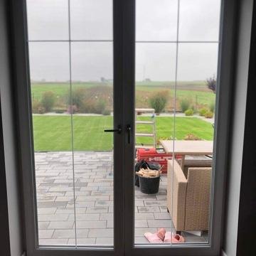 Drzwi/Okno tarasowe białe trzyszybowe