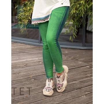 Jeansy damskie Fluo zielone Bastet rozmiar M