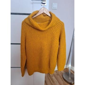 Musztardowy golf sweter reserved rozm M oversize