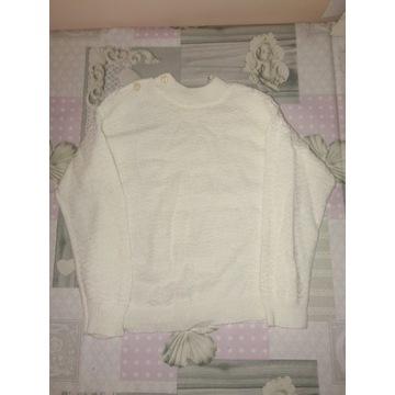 Lekki biały sweterek dziewczęcy 92/98 cm 2-3 lata