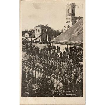 Grajewo, Kriegsbild, Parade, 1916 rok