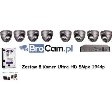 Zestaw 8 kamer 5MPX 1944p UltraHD 4,6,8,16 Kamery