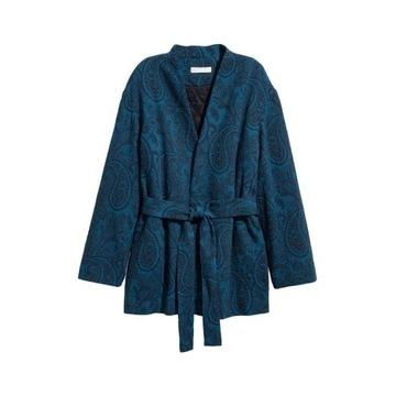 H&M__Żakardowa kurtka / narzutka  kimono __36 z uk