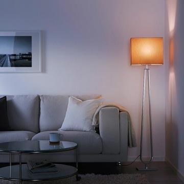 2szt IKEA KLABB lampa podłogowa brązowa LED - nowe