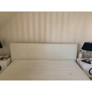 Łóżko sypialniane skorzane 180x200