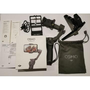 Gimbal Dji Osmo Mobile 3 +adapter Gopro + trójnóg