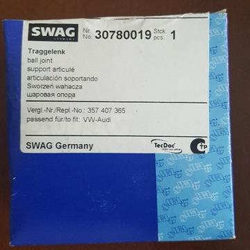 Sworzeń wahacza SWAG 30780019 VW SEAT