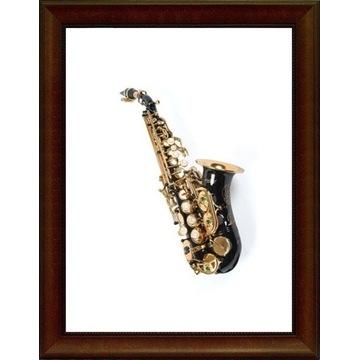 Saksofon sopranowy gięty K.GLASER czarny M014
