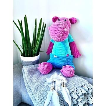 RĘKODZIEŁO dla dzieci maskotka hipopotam 55cm