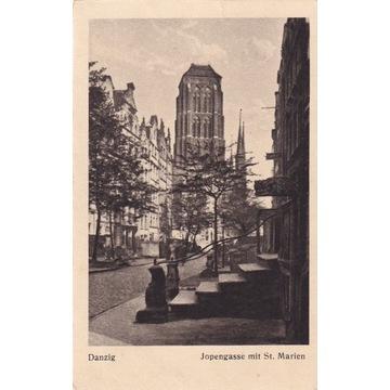 Pocztówka - Gdańsk (Danzig) - Jopengasse