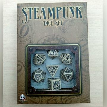 Zestaw 7 kości RPG steampunk