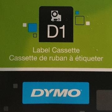 Oryginalna Taśma DYMO D1 45018 12mmx7m żółta/czarn