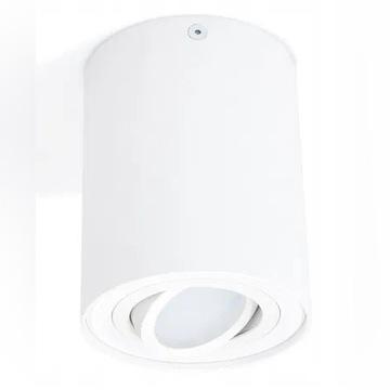 Oparawa biała natynkow halogenowa LED ruchoma GU10
