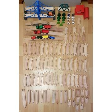 kolejka drewniana 134 elementy