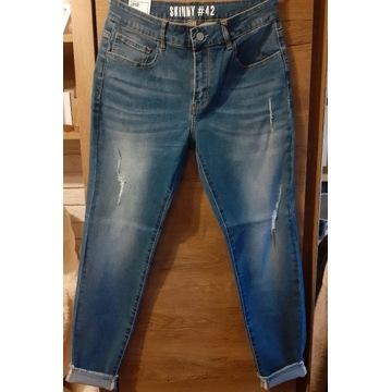 Spodnie  damskir jeansowe rozmiar Xl