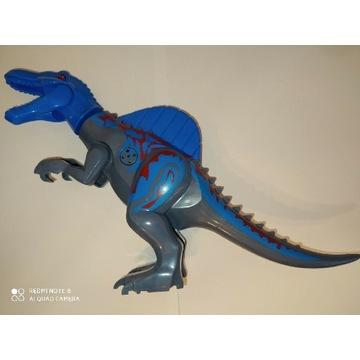 SPINOZAUR ryczący duży dinozaur+klocek lego