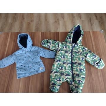 Kombinezon , kurtka + paka ubrań 68 74 chłopiec