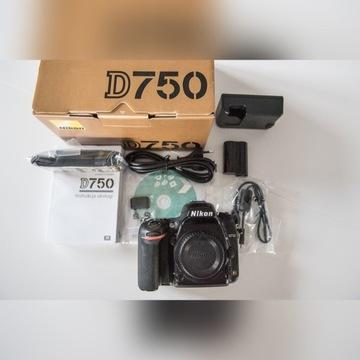 Nikon D750/ stan dobry/ serwisowany przez NIKON