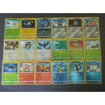 90 kart Reverse Holo Common/Uncommon Pokemon
