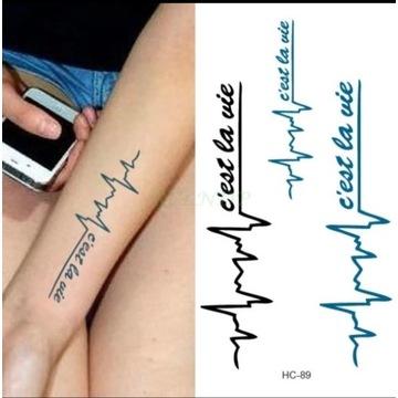 Tatuaż wodoodporny tymczasowy nr. 52 linie życia