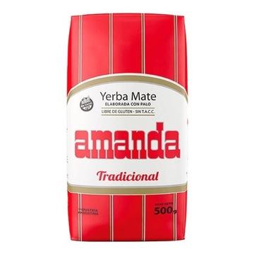 YERBA MATE AMANDA ELABORADA CON PALO TRADICIONAL