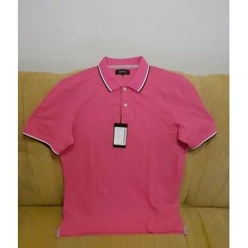 Koszulka polo męska różowa XL nowa Bytom