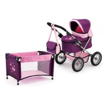 Wózek Bayer Trendy Set z łóżeczkiem dla lalki