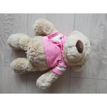 Miś pluszowy, z różową bluzą