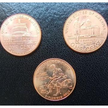 1 cent 2009 okolicznościowe X3 szt. Usa