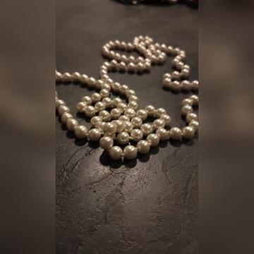 Piękne perłowe korale naszyjnik