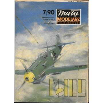 Mały modelarz 7 1990 Me 109 samolot model