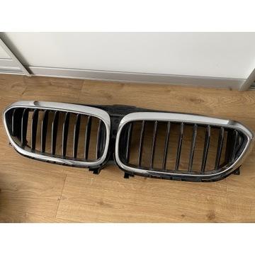 BMW seria 5 G30 nerki przód grill chrom oryginał
