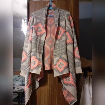 Sweterek w azteckie wzory, typ oversize, r. uni