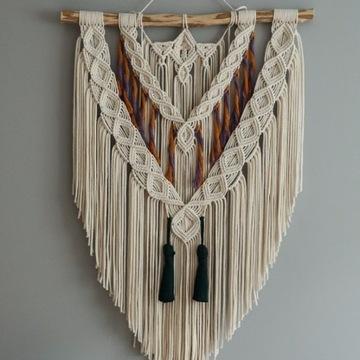 Makrama 60 cm Boho Dekoracja ze sznurka
