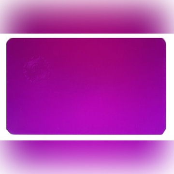 Purpurowa Płytka Tesli -oryginał USA 11*7 cm