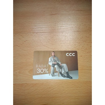 Karta rabatowa CCC -30%