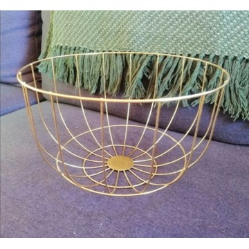 Kosz koszyk okrągły złoty Homla