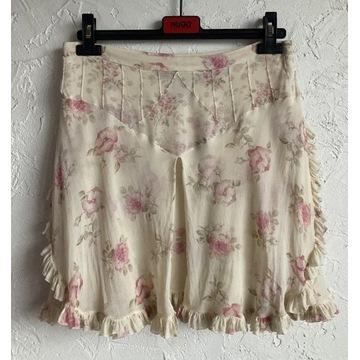 Louis Vuitton mini spódnica silk vintage 40