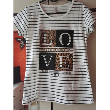 Bluzka 100 % Bawełna   Love