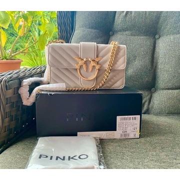Pinko torebka damska bezowa s love mini icon