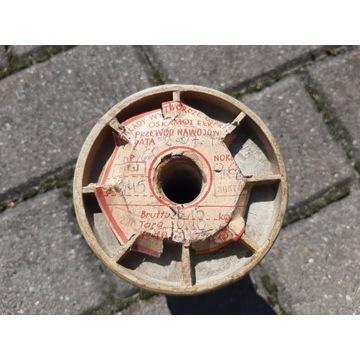 Drut przewód nawojowy bawełna  0,45 mm  0,9 kg